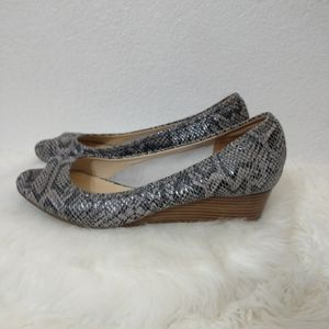 Nike air for Cole haan snake print pumps